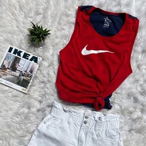 NIKE   Red, White, and Blue Tank Top